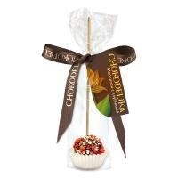 Chokodelika марципановые конфеты ручной работы на палочке с клубникой 20 гр