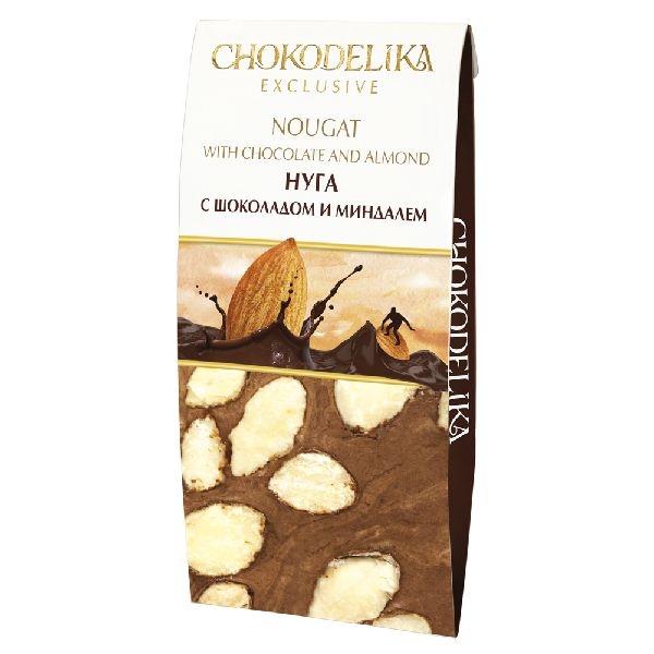 Chokodelika нуга ручной работы с шоколадом и миндалем 100 гр