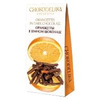 Chokodelika фрукты и ягоды в шоколаде Оранжетты в темном шоколаде 100гр