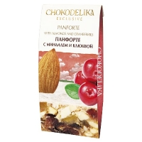 Chokodelika панфорте ручной работы с миндалем и клюквой 100 гр