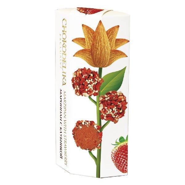 Chokodelika марципановые конфеты ручной работы с клубникой 100 гр