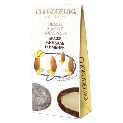 Chokodelika драже миндаль и имбирь 100 гр