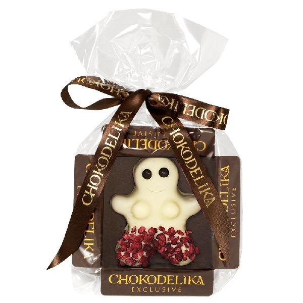 Chokodelika марципановые фигуры ручной работы «Человечек марципановый в белом шоколаде» 31 гр