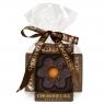Chokodelika марципановые фигуры ручной работы Цветок марципановый в темном шоколаде 30 гр