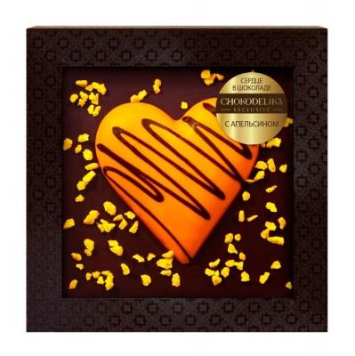 Chokodelika Сердце в шоколаде с апельсином в блистере 90 г