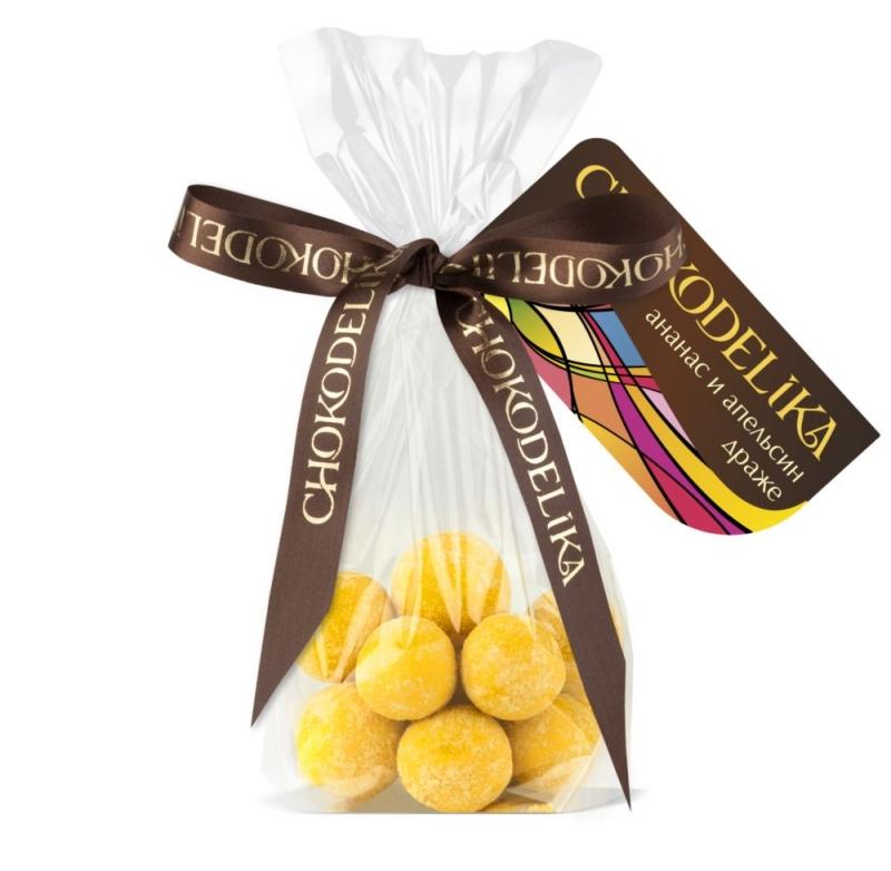 Chokodelika Драже ананас и апельсин (цукаты) 80 г