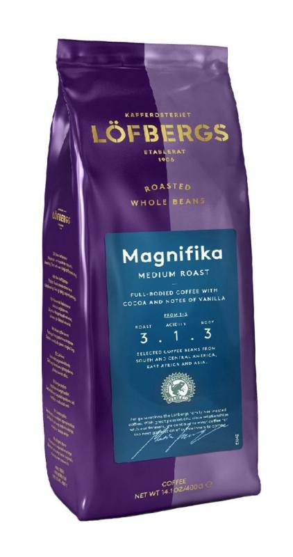 Кофе в зёрнах Lofbergs Magnifika 400 г