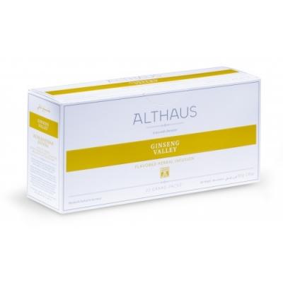 """Чай травяной Althaus (Альтхаус) """"Женьшеневая Долина"""" в пакетиках для чайника"""