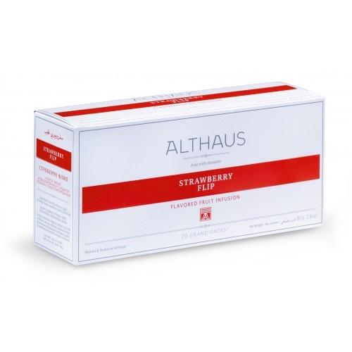 Чай ароматный Althaus (Альтхаус) Строберри Флип в пакетиках для чайника