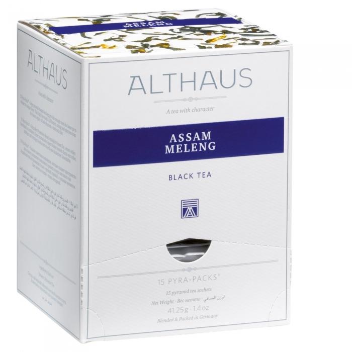 """Чай черный Althaus """"Ассам Меленг"""" в пирамидках"""