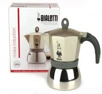 Гейзерная кофеварка Bialetti Moka Induction Gold на 6 чашек 240 мл