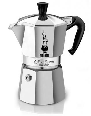 Гейзерная кофеварка Bialetti Moka Express (Биалетти Мока Экспресс) на 3 чашки 180 мл