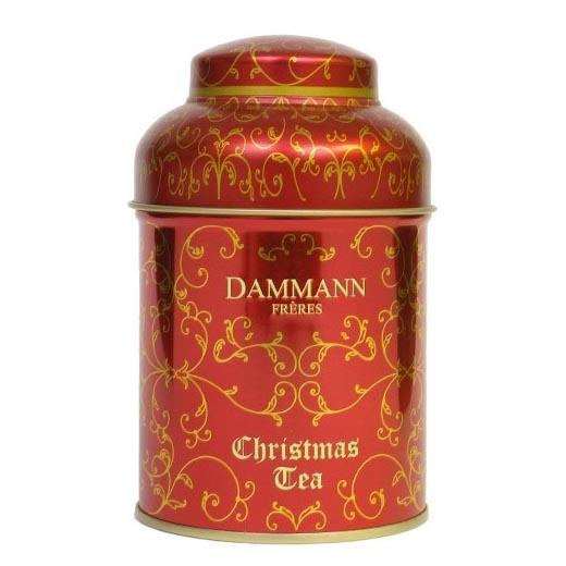 Чай ароматный Рождественский Dammann (Christmas Tea Rouge) в жестяной банке 100 гр