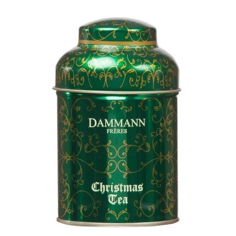 Чай ароматны Рождественский  Dammann (Christmas Tea Vert) в жестянной банке 100 гр.