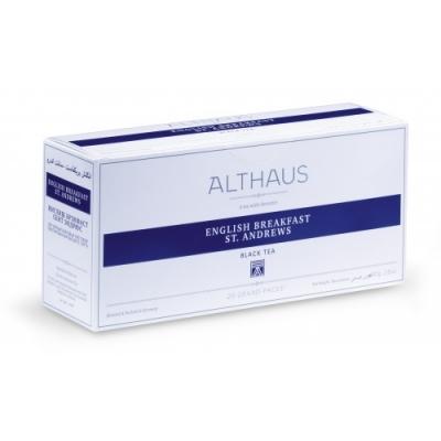 """Чай черный Althaus (Альтхаус)""""Английский Завтрак Сант Эндрюс"""" пакетированный для чайника"""