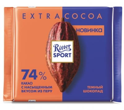 Шоколад Ritter Sport Extra Cocoa темный 74% какао 100 г