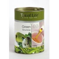 Чай листовой Tea of Life Green Tea Soursop (Тиа оф лайфгрин тиа зеленый чай соусеп)100гр