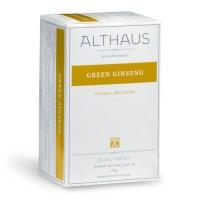 Чай зеленый Althaus Green Ginseng (Альтхаус зеленый женьшень) в пакетиках для чашки