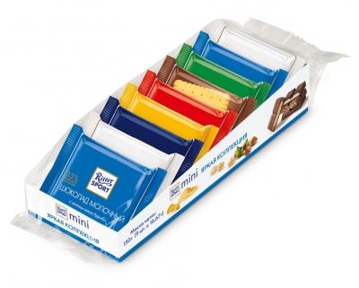 Шоколад Ritter Sport Набор мини-шоколадок Яркая коллекция 7 вкусов 150 г