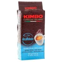 Кофе молотый Kimbo Decaffeinato (Кимбо без кофеина) 250гр