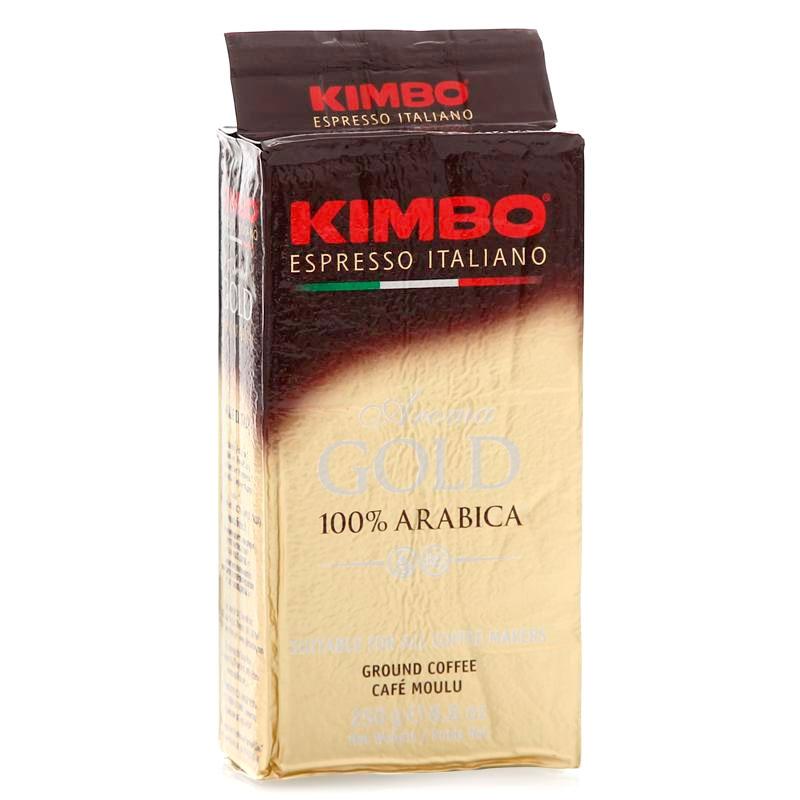 Кофе молотый Kimbo Aroma Gold Arabica (Кимбо Арома Голд Арабика) 250 гр