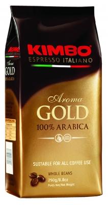 Кофе в зернах Kimbo Aroma Gold 100% Arabica (Кимбо Арома Голд Арабика) 250 гр