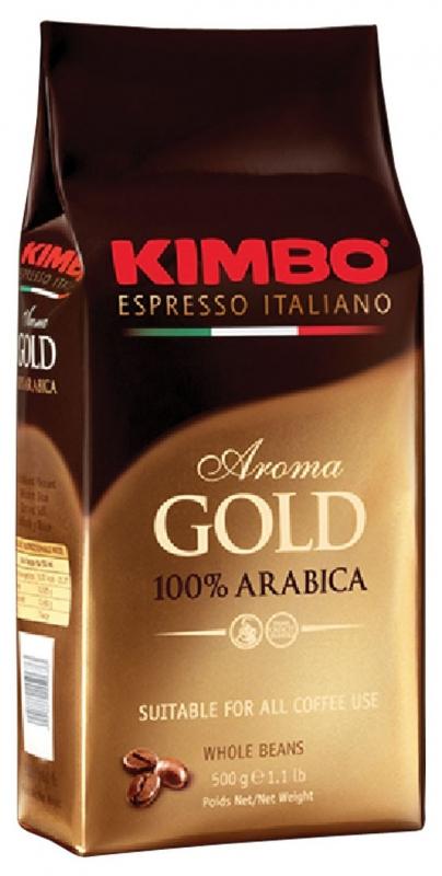 Кофе в зернах Kimbo Aroma Gold 100% Arabica (Кимбо Арома Голд Арабика) 500 гр