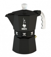Гейзерная кофеварка Bialetti Moka Teschi black (Биалетти Мока Течи) на 3 чашки 180 мл