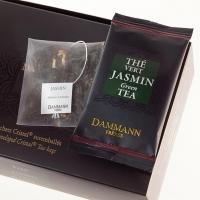 Чай зеленый с жасмином Dammann листовой в шелковых пакетиках 24 шт.