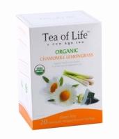 Чай в пирамидках органический Tea of life  из ромашки и лимонной травы