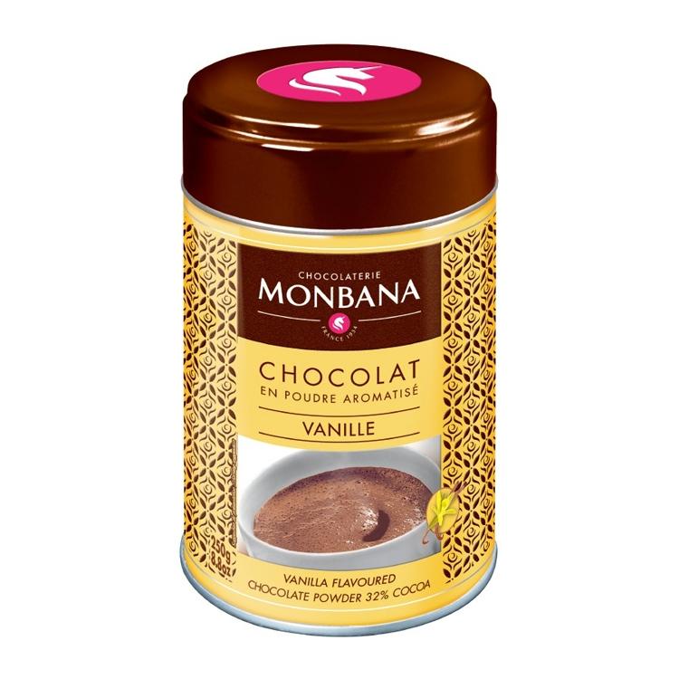 """Горячий шоколад в жестяной банке Monbana """"Ваниль"""""""