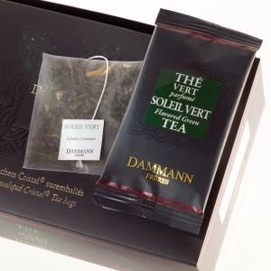 "Чай зеленый ""Зеленое солнце"" Dammann The Vert Melang Soleil Vert листовой в шелковых пакетиках 24 шт."