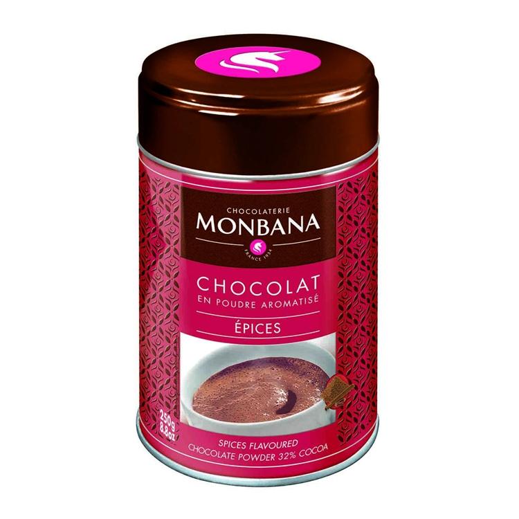 """Горячий шоколад в жестяной банке Monbana """"Специи"""""""