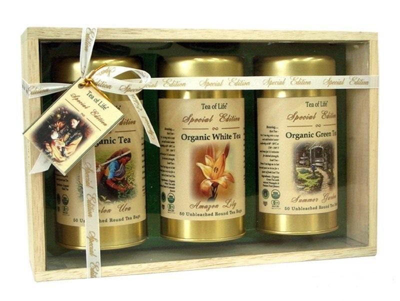Подарочный набор чая Tea of Life Органический в деревянной коробке в интернет магазине MugDuo