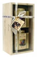 """Подарочный набор чая """"Tea of Life"""" Органический 2 банки в деревянной коробке"""