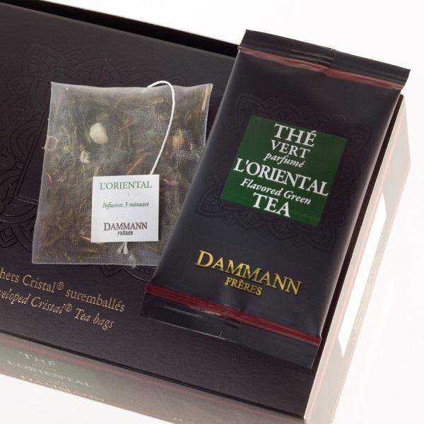 """Чай зеленый """"Восточный"""" Dammann в шелковых пакетиках 24 шт."""