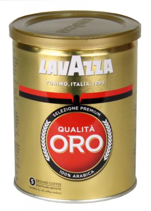 Lavazza Qualita ORO (Лавацца Оро) кофе молотый в банке 250 гр