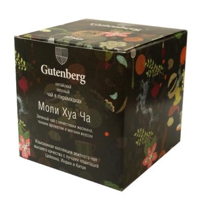 Чай Gutenberg зеленый Моли ХуаЧа (классический с жасмином) в пирамидках