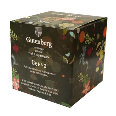 Чай Gutenberg зеленый Сенча в пирамидке