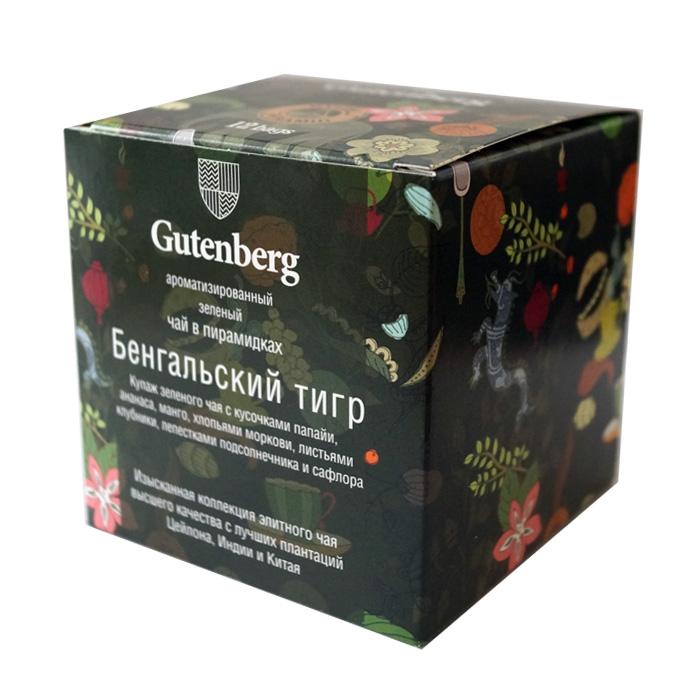 Чай Gutenberg зеленый Бенгальский Тигр в пирамидке