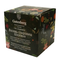 Чай Gutenberg зеленый Восемь Сокровищ Шаолиня в пирамидках