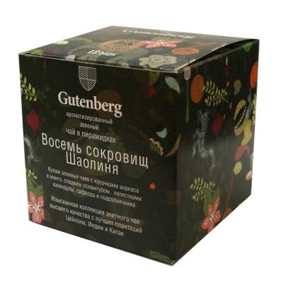 Чай Gutenberg зеленый Восемь Сокровищ Шаолиня в пирамидке