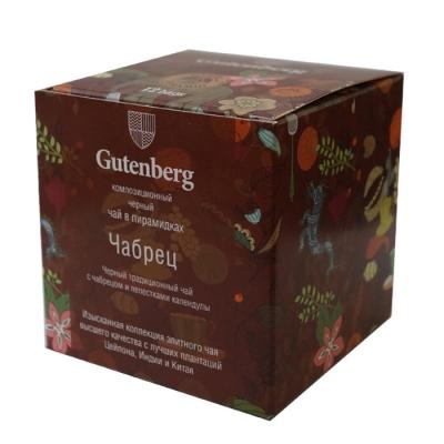 Чай Gutenberg черный Чабрец в пирамидке