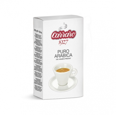 Кофе Carraro Arabica 100% молотый 250 г