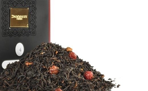 Чай черный Dammann The 4 Fruit Rouges (Дамман Четыре красных фрукта) листовой в жестяной банке 100 гр.