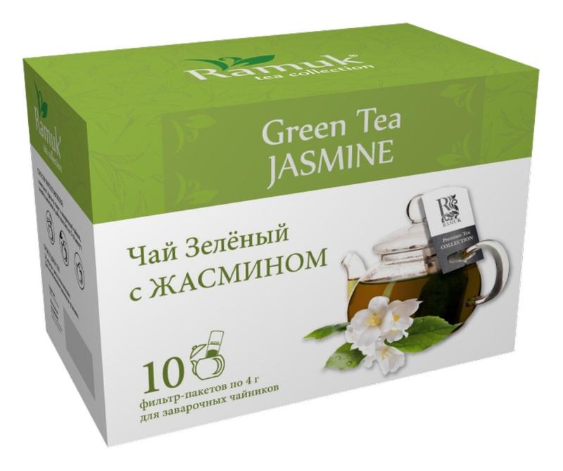 Чай зеленый для чайника в пакетиках Ramuk Jasmine Green Tea с жасмином 40 г