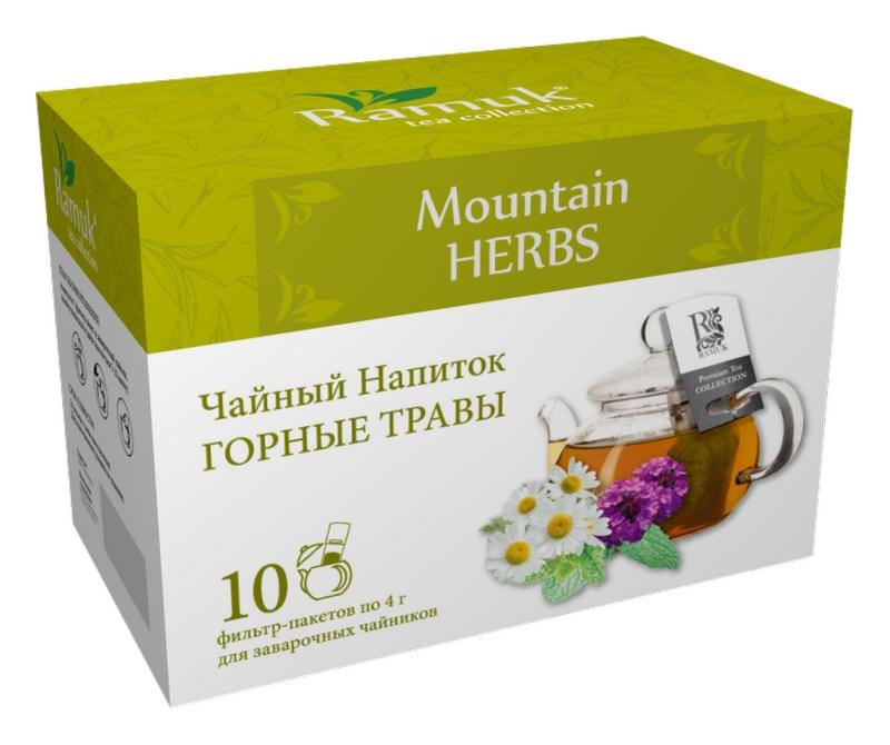 Чайный напиток для чайника в пакетиках Ramuk Mountain Herbs Горные травы 40 г
