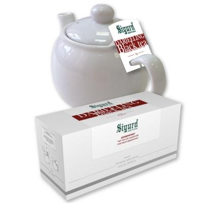 Чай черный для чайника в пакетиках Sigurd Darjeeling 75 г