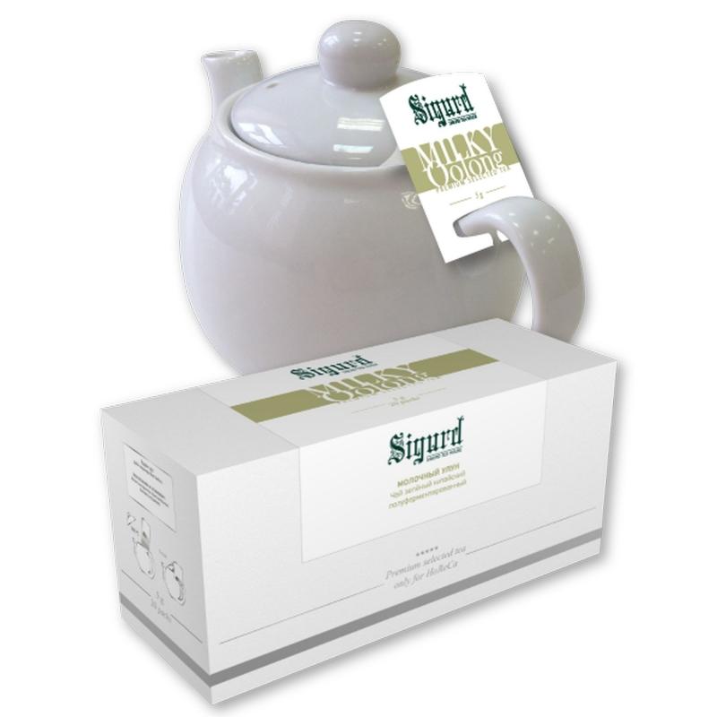 Чай зеленый для чайника в пакетиках Sigurd Milky Oolong молочный улун 75 г