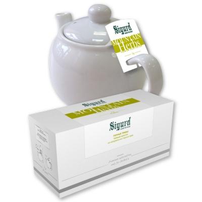 Чай травяной для чайника в пакетиках Sigurd Mountain Herbs горые травы 75 г